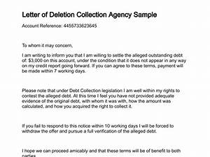 letter of deletion With sample letter to debt collection agency