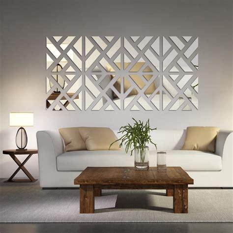 Mirrored Chevron Print Wall Decoration