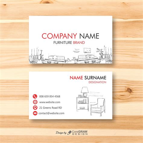 trending furniture business card template
