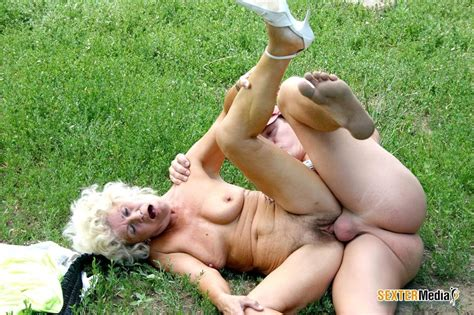 hairy pussy granny gets fucked hard outdoor xxx dessert picture 1