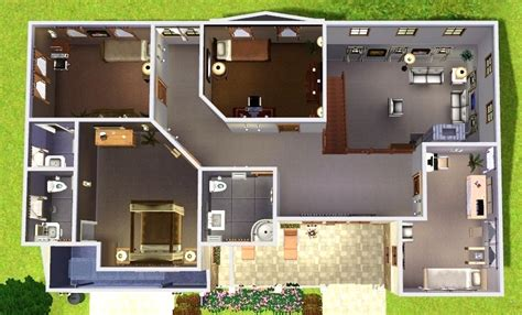Sims 3 Floor Plans For Houses by Mod The Sims Cozy Suburban Home