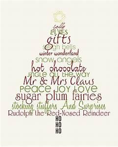 Christmas Word Art Tree - Free printable   FREE Printables ...