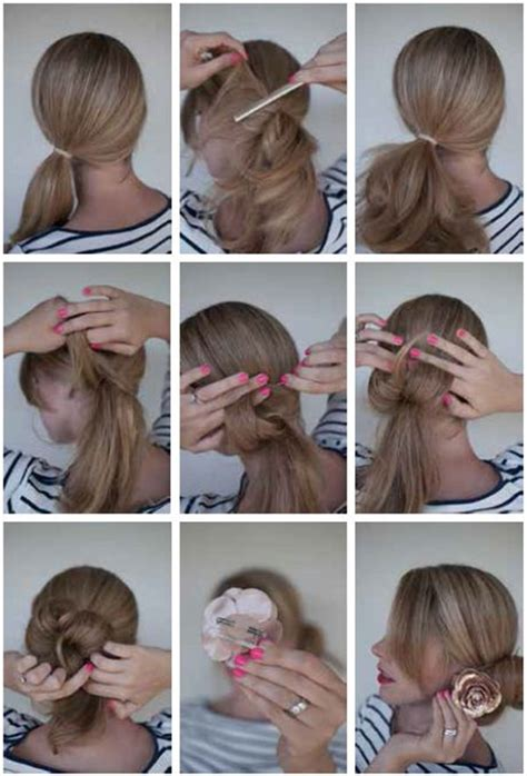 hair style steps bun hairstyles with pictures within 5 steps 1539