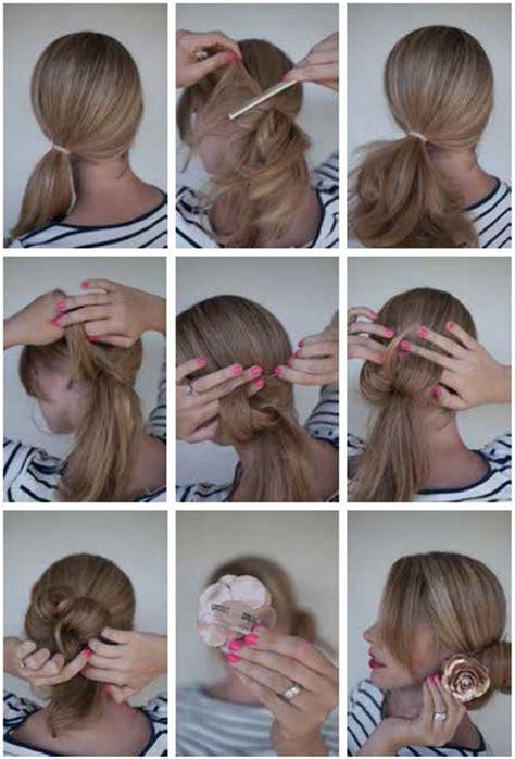 bun hairstyles   wedding day  detailed steps