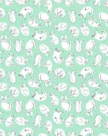 cat patterns pretty mint green backgrounds search