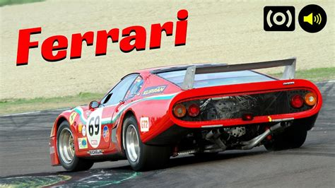 2x Ferrari 512bb Lm In Action At The Imola Circuit