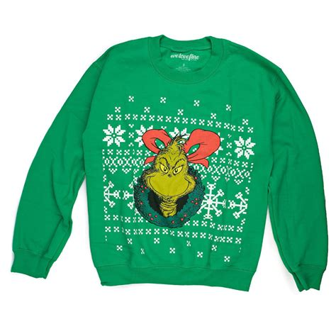 grinch ugly christmas sweater how the grinch stole tacky holiday sweatshirt new ebay