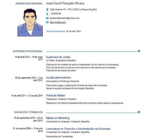 Cv Word by Modelo De Curriculum Vitae Europeo Word Modelo De