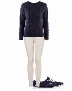 Dress Like Eleanor Calder - El inspired outfit with navy blue Vans Jumper ...