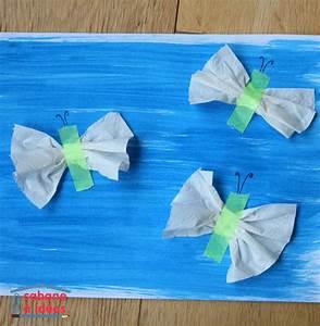 Papillon Papier De Soie : papillons de papier toilette cabane id es ~ Zukunftsfamilie.com Idées de Décoration