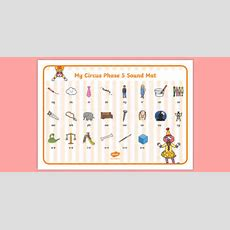 Circus Themed Phase 5 Sound Mat  Phase Five, Phonics, Visual