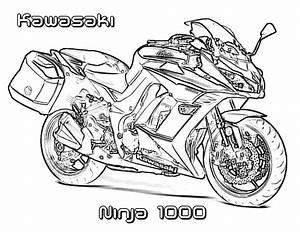 disegni da colorare kawasaki stampabile gratuito per With honda bikes street