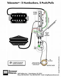 tele wiring diagram 2 humbuckers 2 push pulls With wiring humbucker pickups