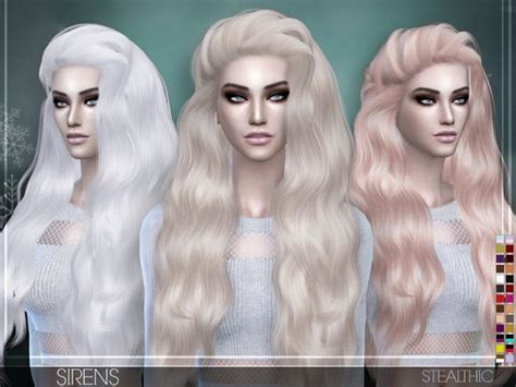stealthic sirens female hair sims  updates sims