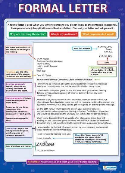formal letter english grammar englisch lernen sprache