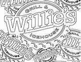 Coloring Willie Logos Grill Ice sketch template
