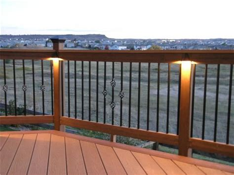 deck railing lights ideas lighting outdoor ideas pinterest