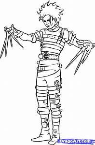 How to Draw Edward Scissorhands, Step by Step, Movies, Pop ...