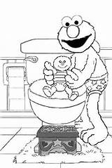 Potty Elmo Training Coloring Pages Colouring Pee Printable Diaper Street Sesame Baby Monster Cookie Daycare Activities Diapers Disney App Boys sketch template