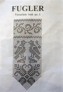 Norwegian Mitten Patterns Knitting Chart