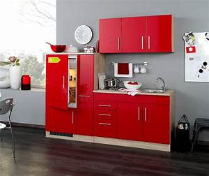 Küche Mit Kühlschrank : singlek che berlin mit k hlschrank breite 210 cm hochglanz rot eiche sonoma k che ~ Markanthonyermac.com Haus und Dekorationen