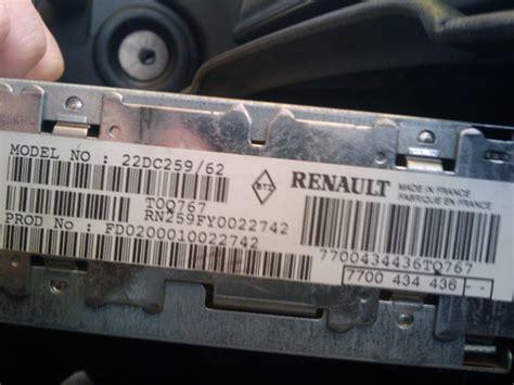 Renault Laguna 1 Radio Code
