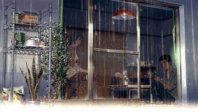 Anime Gifs Words Garden Rain Chinese Aesthetic