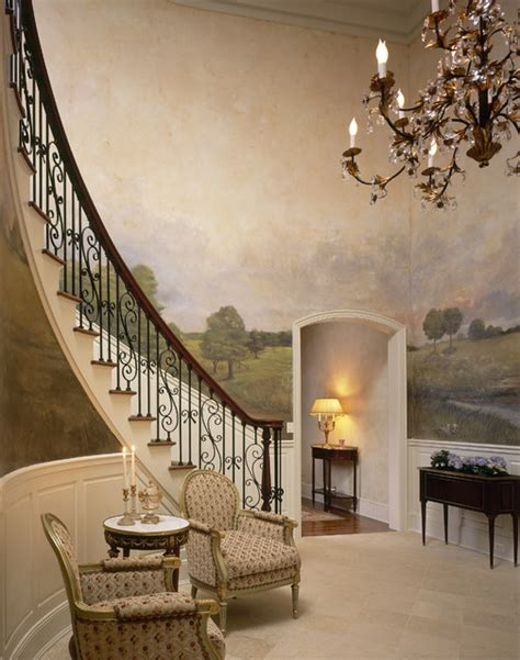 decor mural grand format grand westchester county estate traditional entry new york by robin baron design