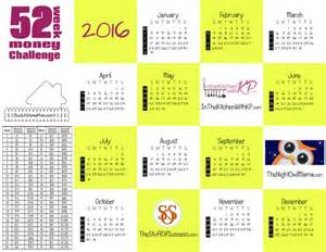 52 Week Money Challenge Printable 2016