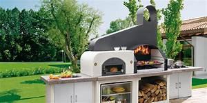 aussenkuche holzbackofen und gasgrill auf gardelinode With französischer balkon mit pizzaofen für den garten selber bauen