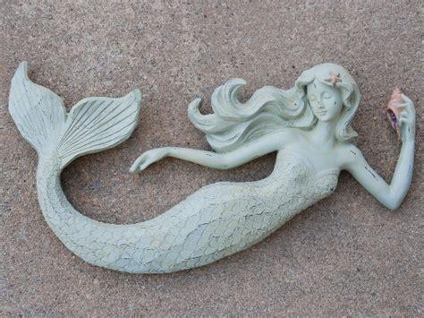 wall decor mermaid w flowing hair wall plaque cottage decor Mermaid