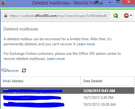 Office 365 Outlook Deleted Items by How Can I Recover Or Restore An Office 365 Mailbox Of A