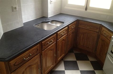 cuisine plan de travail noir marbre et granite cuisine chaios com