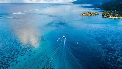 4k Boat Sailing Wallpapers Ocean Backgrounds Island