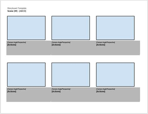 storyboard templates ms word ms powerpoint