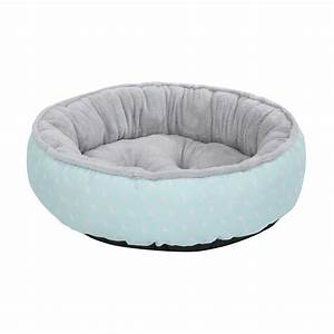 round plush pet bed triangle print medium kmart With where to buy dog beds