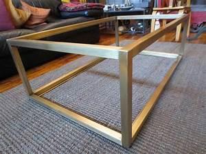 custom metal modern coffee table base by andrew stansell With custom coffee table base