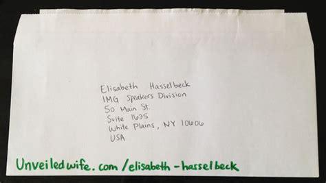 encouraging letter  elisabeth hasselbeck