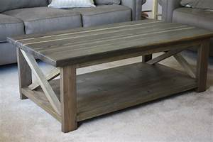 Ana white rustic x coffee table diy projects for Rustic coffee table