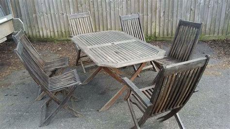 teak patio set table chairs stonehouse
