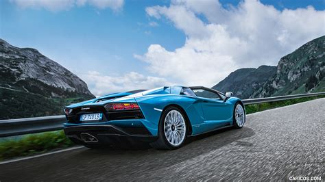 lamborghini aventador s roadster back 2018 lamborghini aventador s roadster rear three quarter hd wallpaper 22