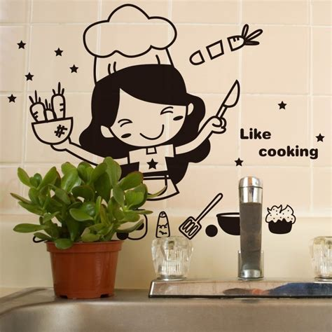 sticker mural cuisine kitchen like cooking wall sticker wall
