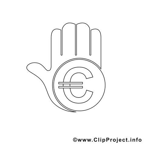hand mit eurozeichen bild zum ausmalen