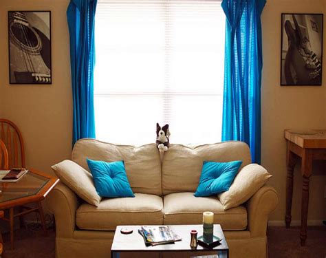 Cheap Blue Living Room Curtains