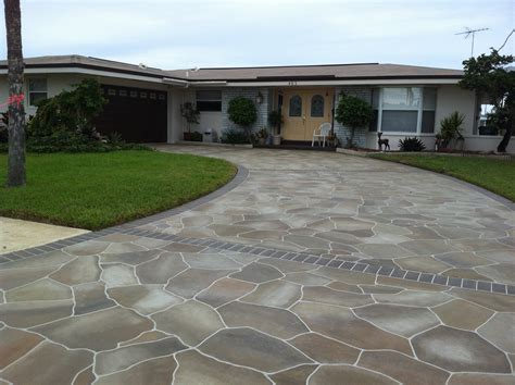 driveways ideas concrete designs florida driveway decorating ideas