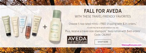 65870 Aveda Coupon Code by Aveda Free Bonus Gifts With Purchase Makeup Bonuses