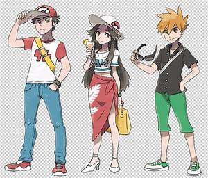 Pokémon Alola Sun and moon trainers. Blue, Red, and Green ...