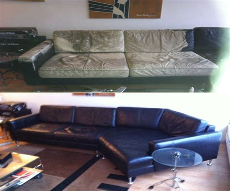 leather sofa repair nyc couch disassemble service elevator before and after photo