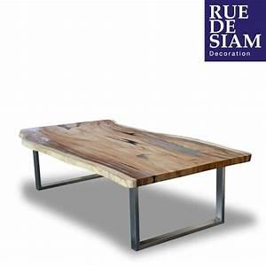 Roue Industrielle Pour Table Basse : table basse crystal meuble table bois naturel ruedesiambrest rue de siam meubles ~ Nature-et-papiers.com Idées de Décoration