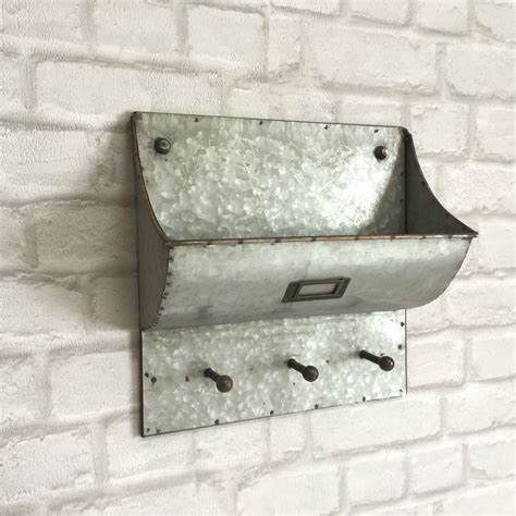 Vintage Industrial Style Wall Letter Rack Storage Unit Key